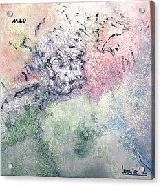 Rose Acrylic Print by Montserrat Lopez Ortiz