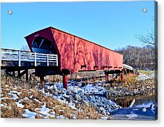 Roseman Covered Bridge Acrylic Print by Julio n Brenda JnB