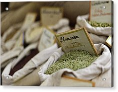 Rosemary And Provencal Herbs In Farmers Market Acrylic Print by Alexandre Fundone
