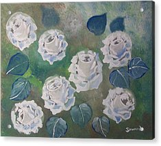 Roses Bouquet Acrylic Print