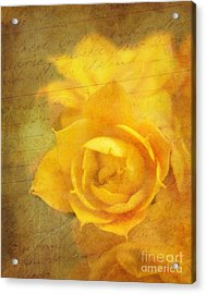 Roses For Remembrance Acrylic Print by Judi Bagwell