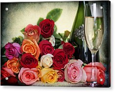 Acrylic Print featuring the photograph Roses For You by Yelena Rozov