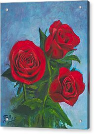 Roses Acrylic Print by Herman Sillas