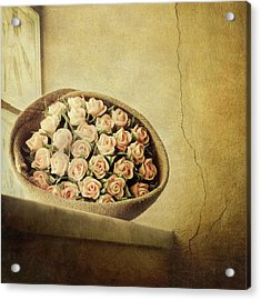 Roses On Window Acrylic Print by Marco Misuri