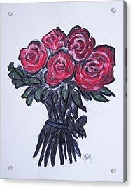 Roses Acrylic Print by Serene Maisey