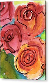 Rosettes Acrylic Print by Judy  Rogan