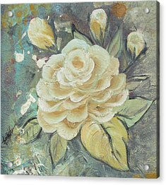 Acrylic Print featuring the painting Rosey by Kathy Sheeran