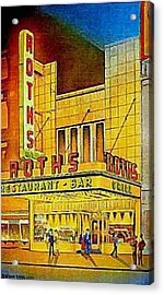 Roth's Restaurant In New York City In 1939 Acrylic Print by Dwight Goss
