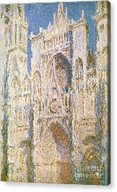 Rouen Cathedral Acrylic Print by Claude Monet