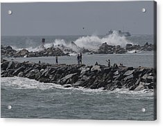 Rough Seas To Block Island Acrylic Print