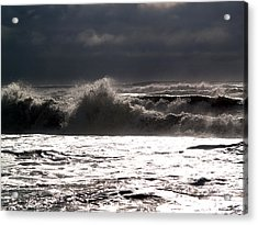 Rough Waves 2 Acrylic Print by Deborah Hughes