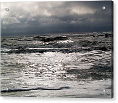 Rough Waves 3 Acrylic Print by Deborah Hughes
