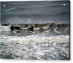 Rough Waves 4 Acrylic Print by Deborah Hughes