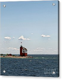 Round Island Light Acrylic Print