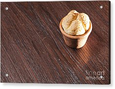 Round Sandwich Bun Acrylic Print by Chavalit Kamolthamanon