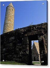 Round Tower And Chapel, Ulster History Acrylic Print by The Irish Image Collection