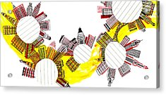 Rounded Cities Acrylic Print by Catarina Bessell