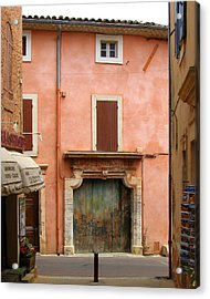 Roussillon Painted Door Acrylic Print by Carla Parris