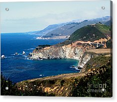 Route 1  California Pacific Coast  Acrylic Print by The Kepharts