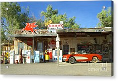 Route 66 Hackberry Arizona Acrylic Print by Bob Christopher