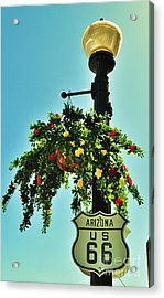 Route 66 Williams Arizona Acrylic Print by George Sylvia