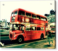 Routemaster Retro Pop Art  Acrylic Print by Jasna Buncic
