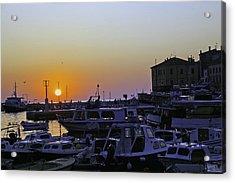 Rovinj Sunset Acrylic Print by Madeline Ellis