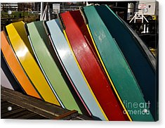 Row Of Boats Acrylic Print by Camille Lyver