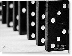 Row Of Dominoes Acrylic Print by Joe Fox
