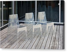 Row Of Modern Translucent Chairs Acrylic Print by Jaak Nilson