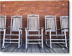 Row Of Rocking Chairs Acrylic Print by Skip Nall