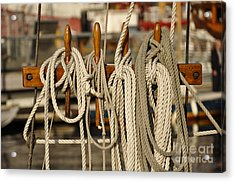 Row Of Ropes Acrylic Print by Camille Lyver