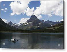 Rowboat At Many Glacier Acrylic Print