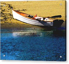 Rowboat At Mother's Beach Acrylic Print by Timothy Bulone