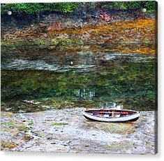 Rowboat In The Slough Acrylic Print by Michele Cornelius