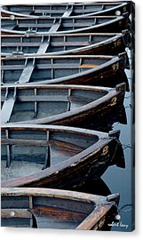 Rowboats Acrylic Print by Robert Lacy