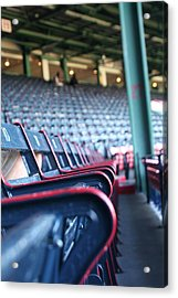 Rows Of Empty Field Box Seats At Fenway Boston Acrylic Print by Loud Waterfall Photography Chelsea Sullens