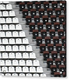 Rows Of Seats In Different Colors Acrylic Print by Befo