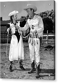 Roy Rogers Right, And His Wife Dale Acrylic Print by Everett