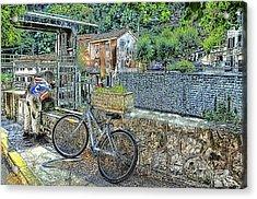 Roya Valley Breil Sur Roya Drinking Before To Go Acrylic Print by Enrico Pelos