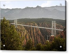 Royal Gorge Bridge Colorado - The World's Highest Suspension Bridge Acrylic Print by Christine Till