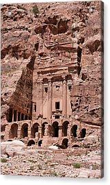 Royal Graves, Djebel Khubtha, Petra, Jordan Acrylic Print by Patrice Hauser