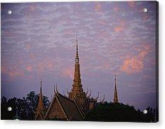 Royal Palace Rooftop At Dawn, Phnom Acrylic Print by Steve Raymer