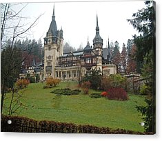 Royal Peles Castle Sinaia Romania Acrylic Print by Mircea Veleanu