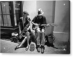 Royal Street Music Acrylic Print by Leslie Leda
