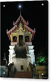 Royal Thai Lanna Buddhist Wat Library Acrylic Print by Gary Heiden