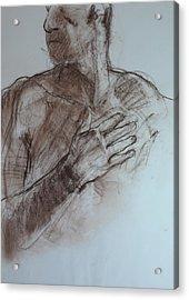 Roy's Hand. Acrylic Print by Harry Robertson