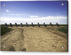Acrylic Print featuring the photograph Rt 66 Cadillac Ranch  by Paul Plaine