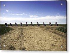 Rt 66 Cadillac Ranch  Acrylic Print by Paul Plaine