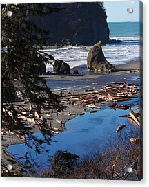 Ruby Beach IIi Acrylic Print by Jeanette C Landstrom